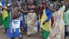 Tribal dance. In Rwanda Village Royalty Free Stock Image