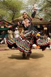 Tribal Dancer in Action Royalty Free Stock Image