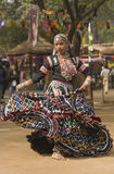 Tribal Dancer in Full Flow Royalty Free Stock Images