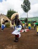Tribal dancer rwanda Royalty Free Stock Images