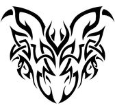 Tribal Demon in black and white. Abstract tribal representation of a demon / beastly character Stock Photos