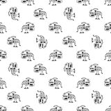 Tribal Demon Seamless Pattern Stock Photo