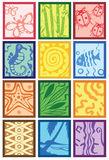 Tribal design. Various design elements of a tribal icon Stock Images