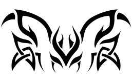 Tribal Design. Abstract tribal design tattoo shape Royalty Free Stock Images