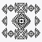 Tribal design. black and white abstract figure.  graphic. Tribal represented by black and abstract ethnic shape design, isolated and flat illustration Royalty Free Stock Images