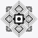 Tribal design. black and white abstract figure.  graphic. Tribal represented by black and abstract ethnic shape design, isolated and flat illustration Royalty Free Stock Photo