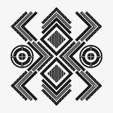 Tribal design. black and white abstract figure.  graphic. Tribal represented by black and abstract ethnic shape design, isolated and flat illustration Royalty Free Stock Image