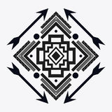 Tribal design. black and white abstract figure.  graphic. Tribal represented by black and abstract ethnic shape design, isolated and flat illustration Stock Photos