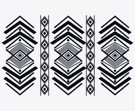 Tribal design. black and white abstract figure.  graphic. Tribal represented by black and abstract ethnic shape design, isolated and flat illustration Royalty Free Stock Photos