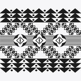 Tribal design. black and white abstract figure.  graphic. Tribal represented by black and abstract ethnic shape design, isolated and flat illustration Stock Images