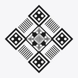 Tribal design. black and white abstract figure. graphic. Tribal represented by black and abstract ethnic shape design, isolated and flat illustration vector illustration
