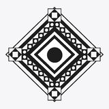 Tribal design. black and white abstract figure.  graphic. Tribal represented by black and abstract ethnic shape design, isolated and flat illustration Royalty Free Stock Photography