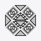 Tribal design. black and white abstract figure.  graphic. Tribal represented by black and abstract ethnic shape design, isolated and flat illustration Stock Photo