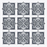 Tribal design. black and white abstract figure. graphic. Tribal represented by black and abstract ethnic shape design, isolated and flat illustration royalty free illustration