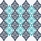 Tribal design. bue  abstract figure.  graphic. Tribal represented by blue  and abstract ethnic shape design, isolated and flat illustration Stock Photos