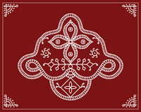 Tribal Design, Folk Motif, Wall Painting Royalty Free Stock Images