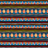 Tribal design. Seamless african pattern at black background. Vintage watercolor. Tribal design. Seamless tribal pattern at black background. Vintage watercolor Stock Images