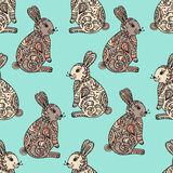 Tribal designed bunny. Royalty Free Stock Photography