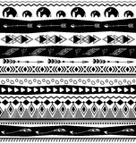 Tribal designs seamless pattern Stock Photography