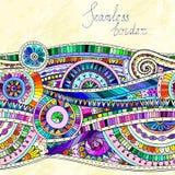 Tribal doddle ethnic pattern. Stock Images