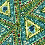 Tribal doddle ethnic seamless pattern. Stock Image