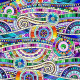 Tribal doddle ethnic seamless pattern. Stock Photography