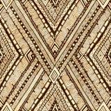 Tribal doddle rhombus seamless background. Royalty Free Stock Photography