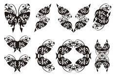 Tribal double eagle head symbols Stock Photography