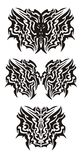 Tribal dragon butterfly tattoo Stock Photo