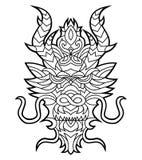 Tribal Dragon Head Stock Photography