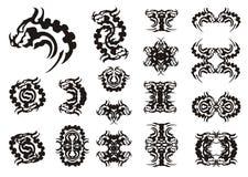 Tribal dragon head symbols Royalty Free Stock Photos