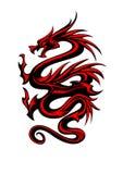 Tribal dragon tattoo Royalty Free Stock Image