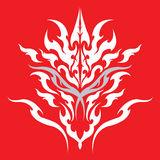 Tribal Dragon tattoo design Royalty Free Stock Photo