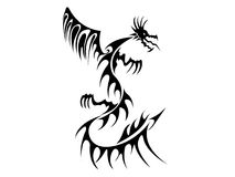 Tribal dragon. A tribal dragon vector illustration Royalty Free Stock Photos