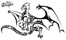 Tribal Dragon Stock Photos