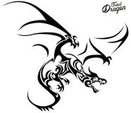 Tribal Dragon Royalty Free Stock Photography