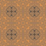 Tribal drawings seamless pattern. Abstract colorful background, texture stock illustration