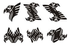 Tribal eagle head symbols Royalty Free Stock Photography