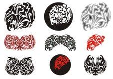 Tribal eagle symbols and eagle circles Royalty Free Stock Image