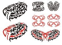 Tribal eagle symbols and eagle frames Stock Images