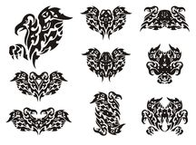 Tribal eagle symbols Stock Photo