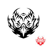 Tribal eagle tattoo. Vector illustration of eagle tattoo Stock Image