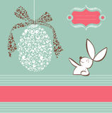 Tribal egg and Easter bunny background Royalty Free Stock Photography