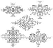 Tribal element patterns on white background. Stock Image