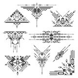 Tribal elements. In vector on white background Royalty Free Stock Photography