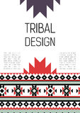 Tribal ethic colorful brochure flyer Stock Images