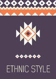 Tribal ethic colorful brochure flyer Stock Image