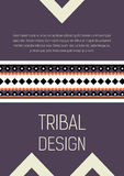 Tribal ethic colorful brochure flyer Stock Photos