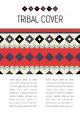 Tribal ethic colorful brochure flyer Royalty Free Stock Photo