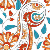 Tribal ethnic background. Hand-drawn vector doodles, seamless pattern. All elements are not cropped and hidden under mask, place the pattern on canvas and Stock Photography
